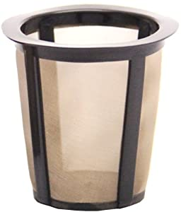 THE ORIGINAL GOLDTONE BRAND Single Cup Reusable Coffee Filter for Keurig Style Brewer-LARGER FILTER-Holds 33% More Coffee