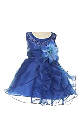 Cinderella Couture Baby Girls\' Cascading Organza Dress Royal Lg 18M (B1101)
