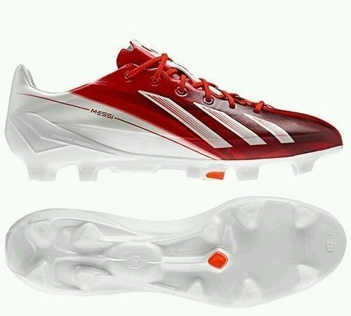 Adidas adizero F50 TRX FG SYN Messi Q34769 Fußballschuhe Nocken Herren Weiß Rot