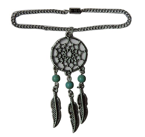 Glamerup: Silver-Plated Dream Catcher Doll Necklace - Handmade to Fit Most 18 inch Dolls