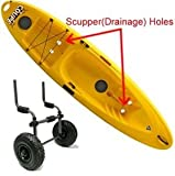 SALE TMS Kayak-Cart-KY003B Aluminum Sit on Top Kayak Canoe Scupper Cart Dolly Wagon Carrier Trolley Wheels