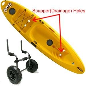 Image of Aluminum Sit on Top Kayak Canoe Scupper Cart Dolly Wagon Carrier Trolley Wheels (B0097HA1JM)