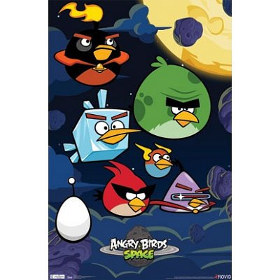 Angry Birds Space Birds Video Game Poster Print - 22x34