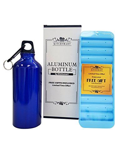 kitchsmart-aluminum-water-bottle-with-plastic-screw-lid-looped-on-the-top-midnight-blue-20oz