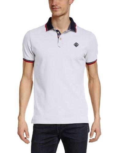 Schott NYC - Polo, manica corta, uomo, Bianco (Blanc (White)), M