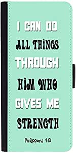 Snoogg Him Who Gives Me Strength Quote Graphic Snap On Hard Back Leather + Pc...