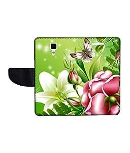 KolorEdge Printed Flip Cover For Redmi Xiaomi MI 4 Multicolor - (50KeMLogo11019XiaomiMi4)