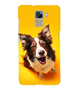 Dog Looking Up Licking 3D Hard Polycarbonate Designer Back Case Cover for Huawei Honor 7 :: Huawei Honor 7 Enhanced Edition :: Huawei Honor 7 Dual SIM