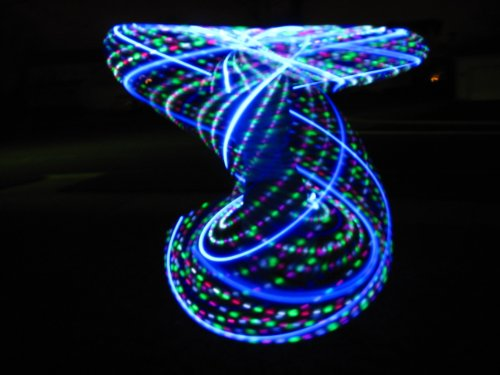"36""- 2 Circuit - 48 Strobing/Solid Color Led Hula Hoop - The Cross Over"