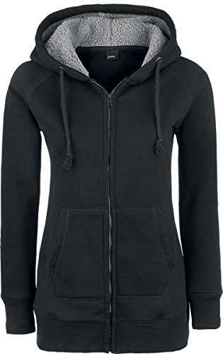 Forplay Teddy Hoodie Felpa jogging donna nero XL