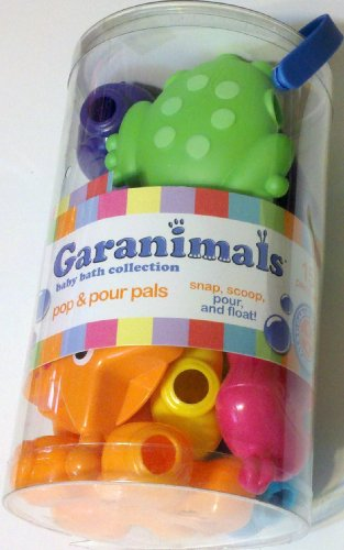 Garanimal Baby Bath Collection, Pop & Pour Pals - 1