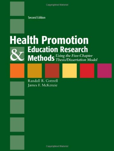 Health Promotion  &  Education Research Methods:...