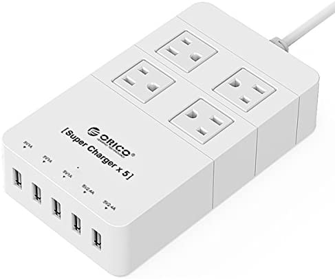 ORICO 4-Outlet Surge Protector w/5 USB Charging Ports