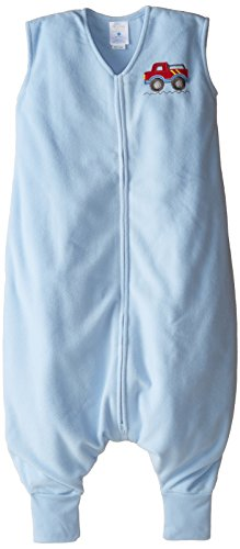 HALO Big Kids SleepSack Wearable Blanket Micro Fleece, Blue, 4-5T