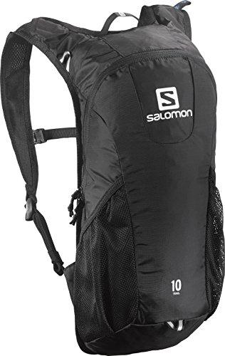 Salomon, Zaino Unisex per il running su strada e per l'escursionismo, 10 litri, TRAIL 10, Blu/Arancione, L37997600
