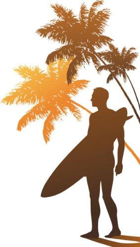 Imagen 1 de Etiqueta de la pared multicolor MD469 Surfers Paradise 120 x 68 cm