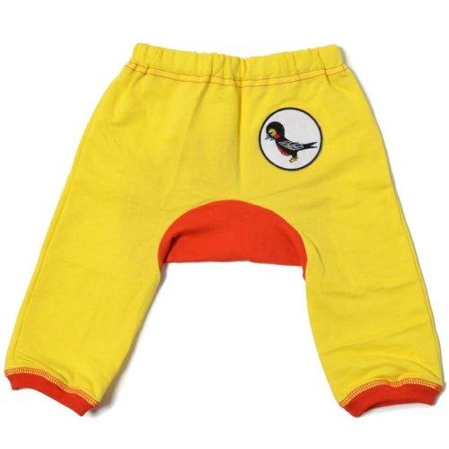 Mademoiselle papillon 7分丈 モンキーパンツ 3/4 Length Swallow Badge Monkey Pants 【イエローsize:80】