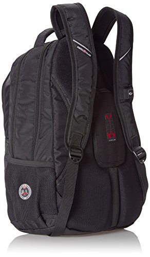 SwissGear Laptop Computer Backpack SA1775 (Black with Red Accents) Fits Most 15 Inch Laptops