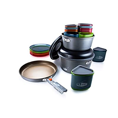 GSI Outdoors - Pinnacle Camper, Nesting Cook Set, Superior Backcountry Cookware Since 1985 from GSI Outdoors