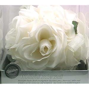 wedding reception decoration ideas, rose kissing ball