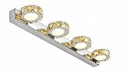 Lightess 12w LED Crystal Make up Mirror Bathroom Light 4 lights 1200 Lumen  Bedroom VanityYosemite Home Decor 4992 2SN 19 5 Inch 2 Light Bathroom Vanity  . Moen Yb2262bn Brantford Bath Lighting Brushed Nickel. Home Design Ideas