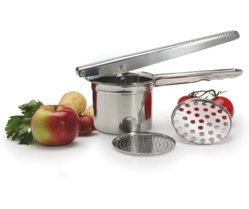 Danesco Potato Ricer with Two Discs, Stainless Steel