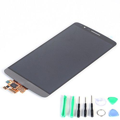 Schermo LCD con digitalizzatore Touch Screen di ricambio, per LG G3 D850 VS985 D851 Optimus D855 D830 (Grigio)