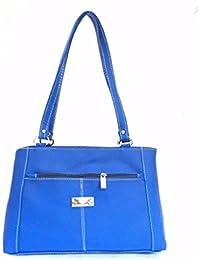 Lizzie Womens PU Zipper Closure Casual Grey Colour Handbag