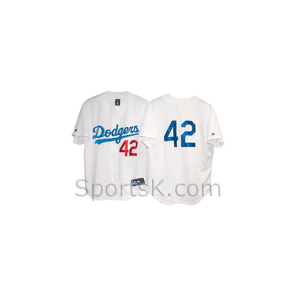 Jackie Robinson Number 42 Dodgers Jersey (In Stock) Sports   Outdoors 63b62738fdf