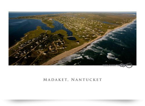 Madaket Aerial Panorama, Nantucket (Giclee Art Print), George Riethof back-952586