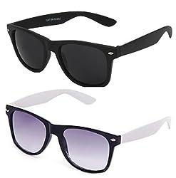 Mayatras Wayfarer Combo Sunglasses (Black White) (M32)