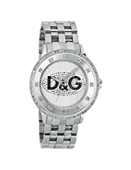 Dolce & Gabbana Men's DW0131 Silver Stainless-Steel Quartz Watch with White Dial