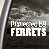 Protected By Ferrets Decal Car Truck Window Sticker