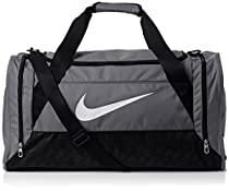 Nike Brasilia 6 Duffel Medium Flint Grey/Black/White Size Medium