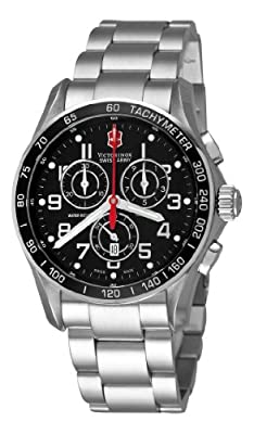 Victorinox Swiss Army Men's 241443 Chron Classic Black Chronograph Dial Watch