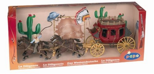 Set Stagecoach with Coachman from the Western Series (Stagecoach Model compare prices)