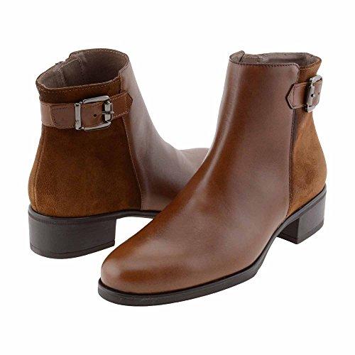 C-4204 stivali di pelle e camoscio Wonders Misure: 40 Colore: CASTAGNA