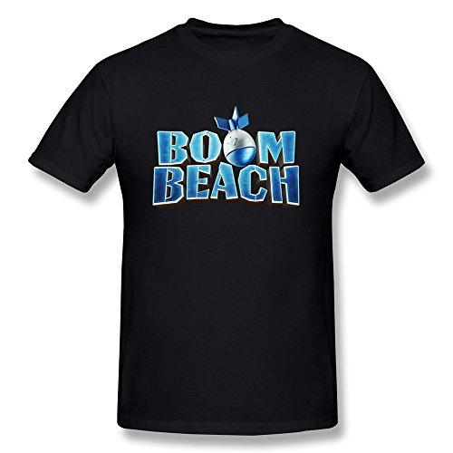 sluggish-min-boom-of-beach-pattern-mens-t-shirts-black