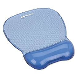 Innovera Gel Mouse Pad with Wrist Rest, Nonskid Base, 8-1/4 x 9-5/8 - Blue