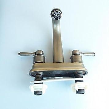 qhy antike 4 zoll centerset chrom waschbecken wasserhahn db740. Black Bedroom Furniture Sets. Home Design Ideas