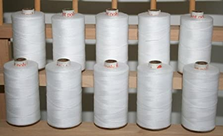 New ThreadsRus 10 Large WHITE Spools