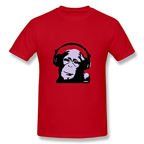 Mens Dj Monkey Cool T Shirt Size Xxl Color Red