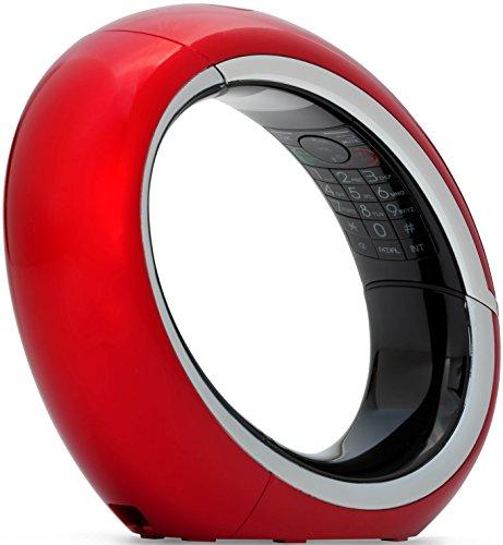 AEG Eclipse 10 Telefono, Design Cordless Dect, Rosso