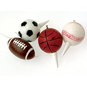 Sports birthday cake toppers