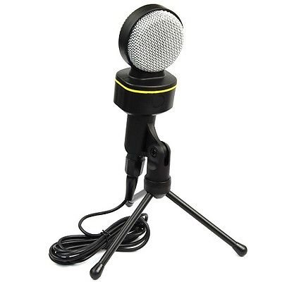 Microphone Mic For Laptop Pc Computer Msn Skype Singing Condenser Sound Professional Microphone Mic W/ Stand Skype Youtube Pc Laptop With Tripod Holder