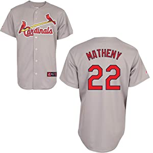 Mike Matheny St Louis Cardinals Road Replica Jersey by Majestic by Majestic