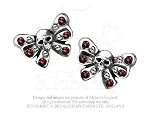 Bow Belles Studs (pair) Earring by Alchemy Gothic, England