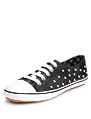 Lace Up Stud Embellished Trainers