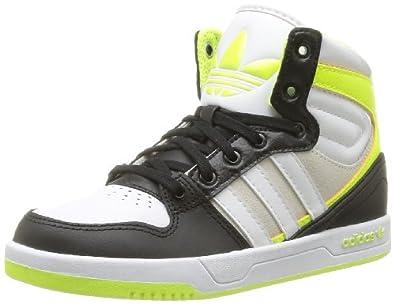 adidas Originals Court Attitude K-6 D67696, Unisex - Kinder Sneaker, Schwarz (BLACK 1/RUNNING WHITE FTW/ELECTRICITY), EU 31
