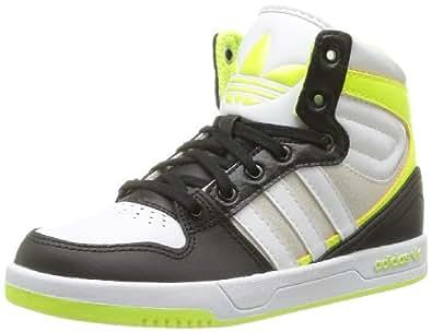 adidas Originals Court Attitude K-6 D67696, Unisex - Kinder Sneaker, Schwarz (BLACK 1/RUNNING WHITE FTW/ELECTRICITY), EU 38